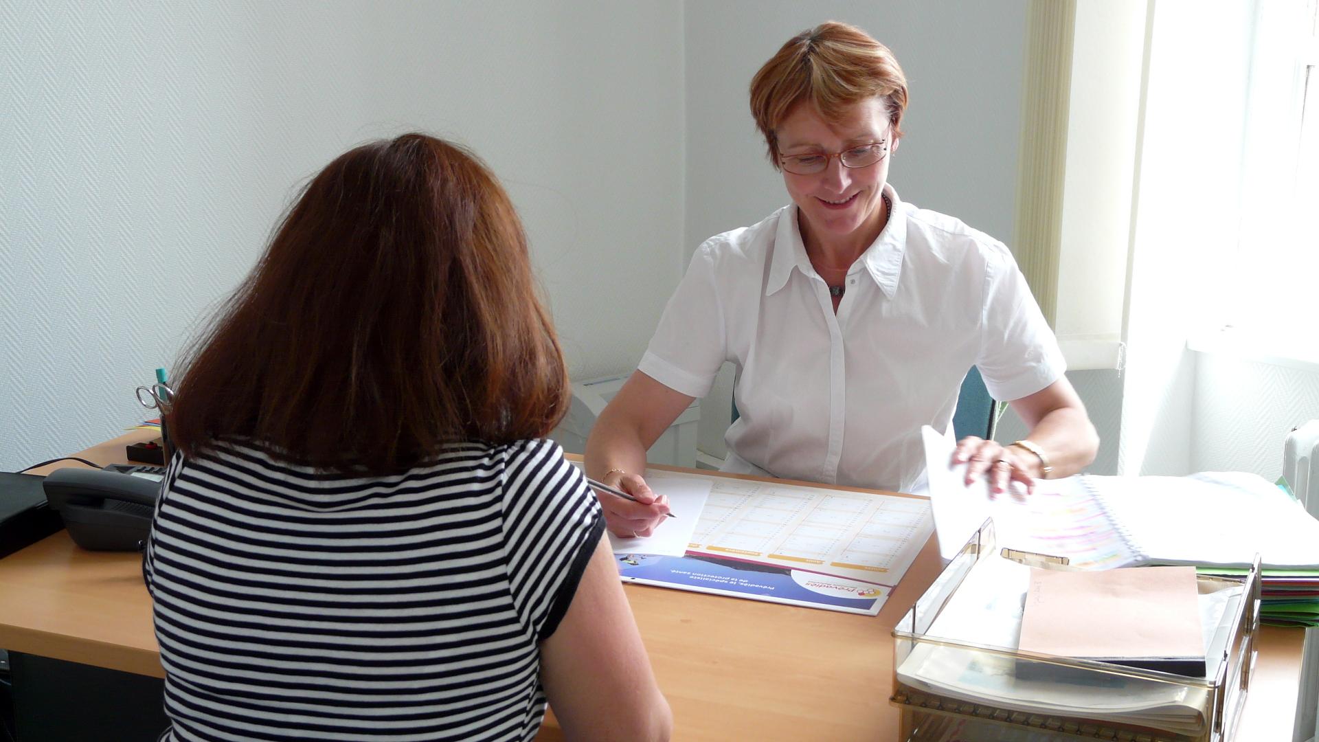 Entretien au CMP, Centre Médico-psychologique de Rostrenen (22)